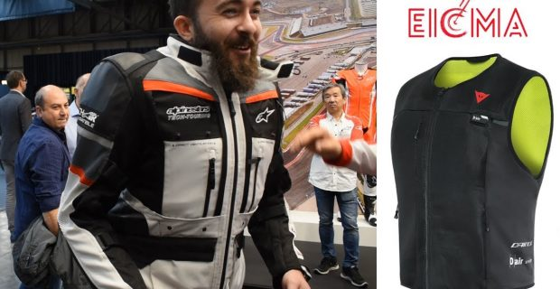 EICMA 2019 | Motorcycle Airbag Systems – Live Airbag Deployment